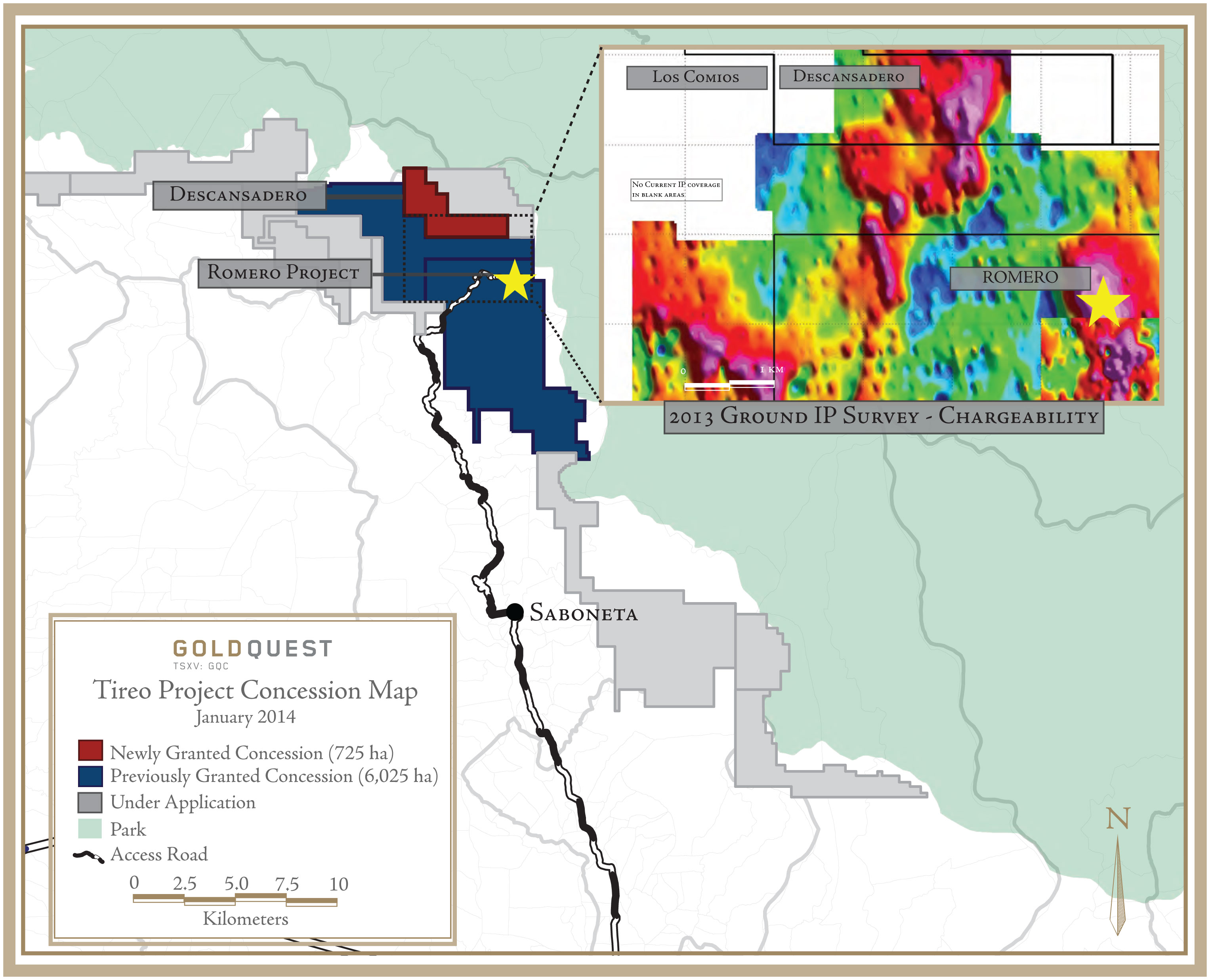 GoldQuest Mining Corp GoldQuest Granted The Descansadero - Where is the dominican republic located