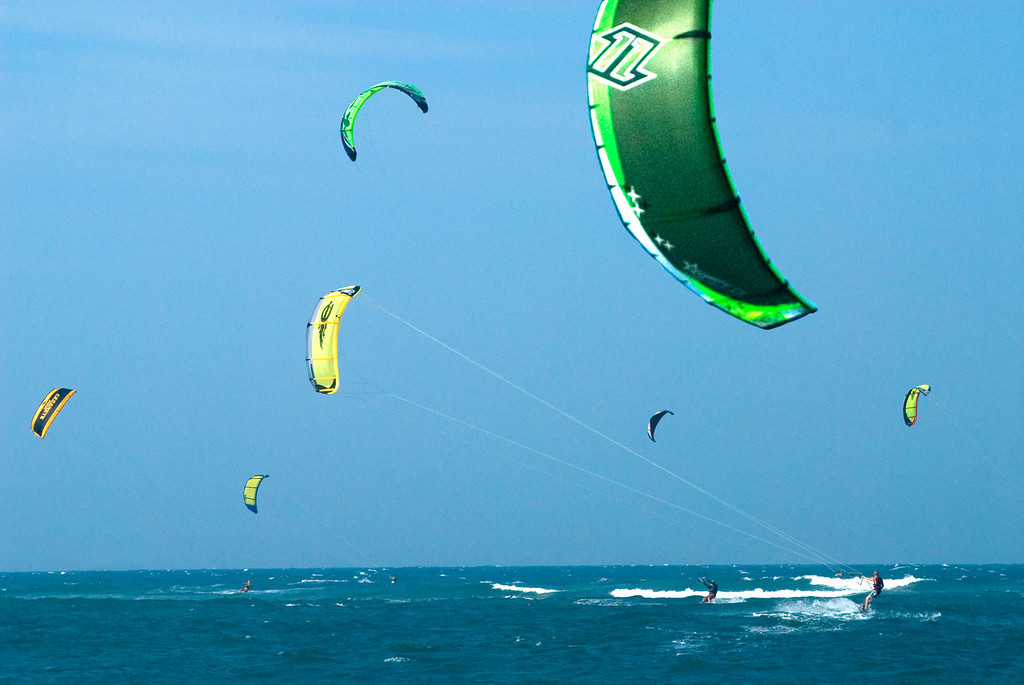 Kiteboarders in Cabarete (credit: Media Photos Dominican Republic Tourism Board)